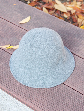 wire wool bucket hat ; gr [ 4color / free size ] 와이어 울 버킷 햇